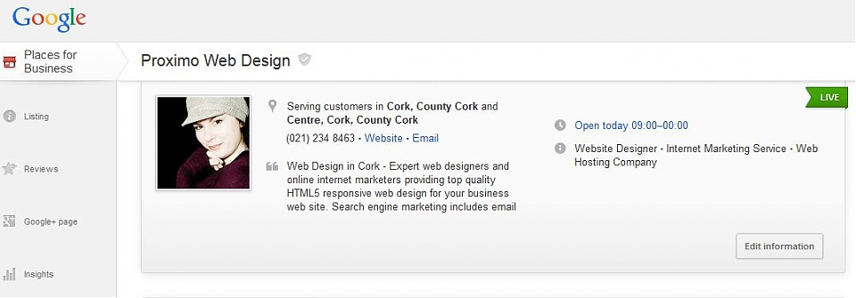 Google Places for Business Update Ireland