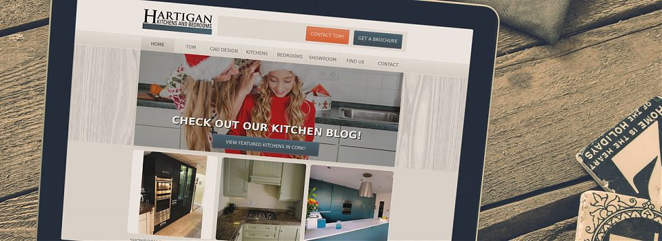 Hartigan kitchens web design Cork